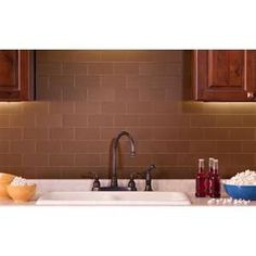Do-it-yourself Peel & Stick backsplash for kitchen or bath.