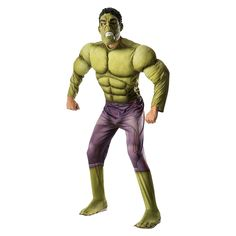 Halloween The Avengers Age of Ultron Men's Hulk Deluxe Costume X-Large, Size: XL, Green