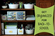Checklist + Project Ideas to Get Organized for Back-to-School