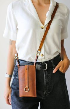 Thick Leather, Cow Leather, Leather Craft, Real Leather, Leather Bags, Leather Fanny Pack, Iphone Leather Case, Hip Bag, Leather Accessories