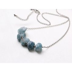 Handmade Jewelry Handmade Necklace Stone Necklace Amazonite Necklace... ($43) ❤ liked on Polyvore featuring jewelry, necklaces, natural stone jewelry, handmade stone jewelry, hand made jewelry, stone jewelry and stone jewellery