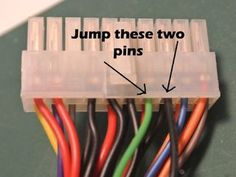 How to Turn on a Computer Power Supply Without a Computer Computer powers supplies are readily available and make a good 12 volt or 5 volt power supply. The only thing is when they are not connected to a computer you need. Electronics Projects, Computer Projects, Electronic Circuit Projects, Computer Basics, Der Computer, Electrical Projects, Electronics Components, Electronic Engineering, Arduino Projects