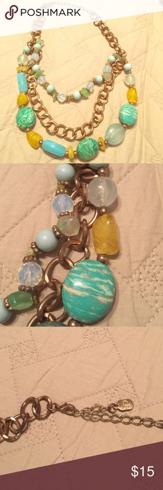 Gorgeous layered stone necklace Assortment of different stones Jewelry Necklaces