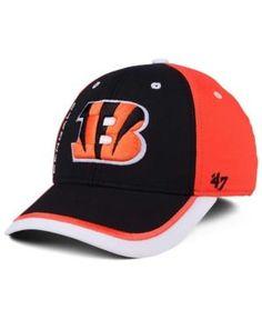 '47 Brand Cincinnati Bengals Crash Line Contender Flex Cap - Black/Orange L/XL