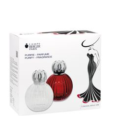 Best Plissee Red Fragrance Lamp Gift Set by Lampe Berger