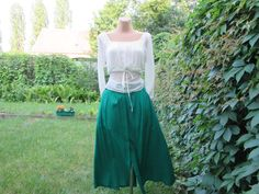 Hey, I found this really awesome Etsy listing at https://www.etsy.com/listing/130339178/long-buttoned-skirt-size-eur-46-48-uk18