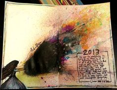 A Year in the Life of an Art Journal: Monday Mugshot Collaboration Jan 15th