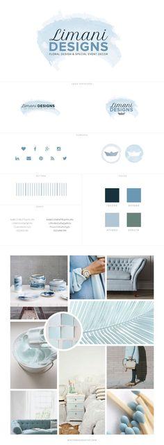 Custom Branding + Web Design for Limani Floral Design - logo design, wordpress theme, mood board inspiration, blog design idea, graphic design, branding