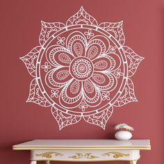 Floral Art Wall Decals Mandala Design Indian Pattern by DecalHouse