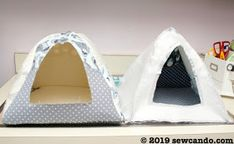 I'm excited to start the new year with a fun new project tutorial and a matching fabric giveaway to go with it! Dog Igloo, Critter Nation Cage, Stitch Patterns, Crochet Patterns, Sewing Patterns, Diy Bed, Animal House, Pattern Paper, Pet Toys