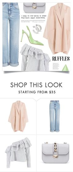"""Get Over It"" by marina-volaric ❤ liked on Polyvore featuring Helmut Lang, Alexander McQueen, Boohoo, Valentino, Le Silla and ruffledtops"