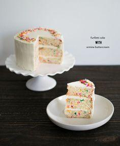 Funfetti cake with ermine buttercream   Photography: Bacon + Egg + Cheesecake - www.baconeggcheesecake.com/: