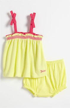 Juicy Couture Top & Diaper Cover (Infant) available at Nordstrom Toddler Shoes, Toddler Outfits, Boy Outfits, Baby Shower List, Couture Tops, Baby Things, Juicy Couture, Ava, Baby Girls