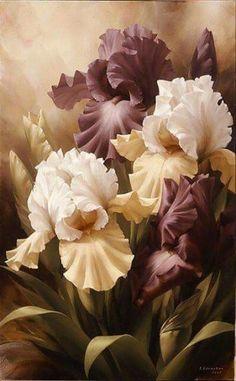 New flowers painting acrylic irises ideas Iris Painting, Acrylic Painting Flowers, China Painting, Watercolor Flowers, Painting & Drawing, Watercolor Paintings, Amazing Flowers, Beautiful Flowers, Iris Art
