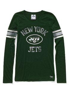 NY Jets Long-Sleeve Football Tee