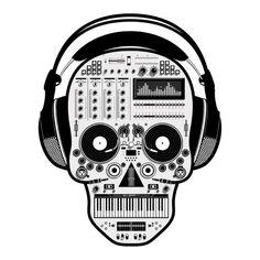 Calavera DJ Face