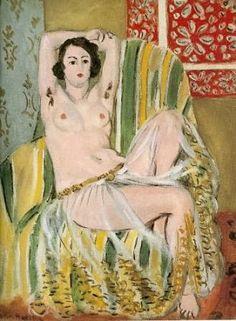 Odalisca sentada con los brazos en alto. Matisse. 1923