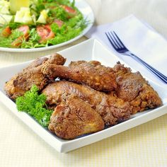 The Best Oven Fried Chicken, all the flavor and crispy deliciousness of moist, juicy fried chicken without frying or a lot of added fat.