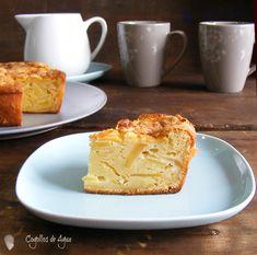bizcocho de manzana y queso fresco