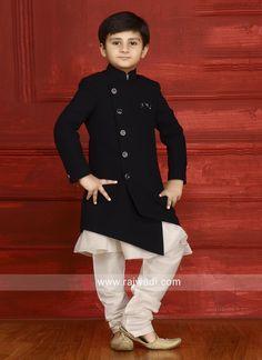 Designer Indo Western for Boys. Kids Party Wear Dresses, Kids Dress Wear, Boys Kurta Design, Kids Frocks Design, Traditional Dress For Boy, Kids Kurta, Kids Wear Boys, Wedding Dresses Men Indian, Sherwani Groom