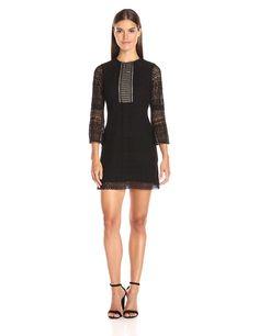 Shoshanna Women's Gabby Dress-Jet Geo Mosaic Lace Dress