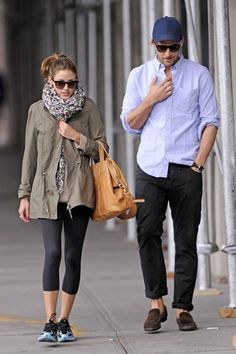 Olivia Palermo and boyfriend Johannes Huebl are seen taking a romantic stroll in Brooklyn