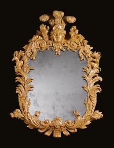 A pair of George II giltwood mirrors<br>circa 1735,Attributed to Benjamin Goodison | Lot | Sotheby's