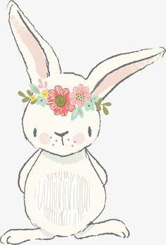 день детей материал, ручной, мультфильм, кролик Изображение PNG