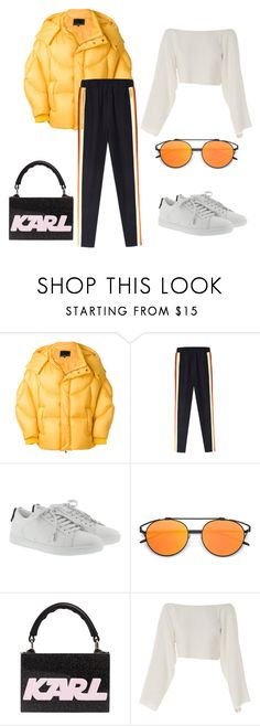 """Sporty outfit"" by eda-kunics on Polyvore featuring Chen Peng, Yves Saint Laurent, Karl Lagerfeld and CÉLINE"