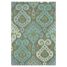 Wool rug with an oversized ikat motif. Hand-hooked in India.   Product: RugConstruction Material: 100% Wool