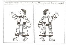 colored coat of Joseph. You can specify 10 differences in these two pictures ? Joseph's coat