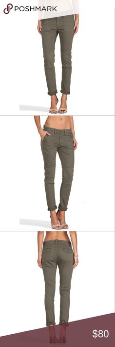 rag & bone $80 OBO NWT Size 30 Army Bowery 2 Jeans Tonal knee patches accent these military-inspired skinny jeans from Rag & Bone/JEAN. Button tabs accent the waist, and classic 5-pocket styling finishes the pair. Button closure and zip fly.  Fabric: Stretch denim. 85% cotton/14% polyester/1% polyurethane. Wash cold. Made in the USA.  MEASUREMENTS Rise: 8in / 20.5cm Inseam: 29in / 73.5cm Leg opening: 10in / 25.5cm rag & bone Jeans Skinny