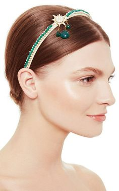 Lodestar Green Agate Headband by Masterpeace Now Available on Moda Operandi