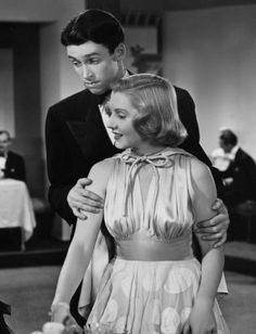 """Jimmy Stewart and Jean Arthur - From """"You Can't Take it With You"""" one of my favorite films of all time; Frank Capra directed - Awesome comedy!!!"""