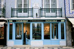 Love the look of the Papabubble Lisbon store.