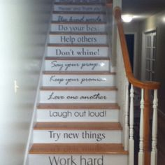 Steps going up to my daughter's bedroom!