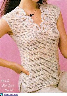Top Free Crochet Graph Pattern : vesty, svetre, pulovre, tuniky, topy on Pinterest ...