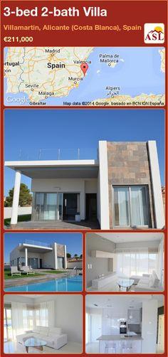 3-bed 2-bath Villa in Villamartin, Alicante (Costa Blanca), Spain ►€211,000 #PropertyForSaleInSpain