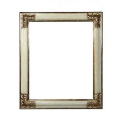 "Wooden white and silver frame ""Rovescia"" - Luxurious frame perfect to enhance the beauty of pictures and paintings. Available in different sizes!"