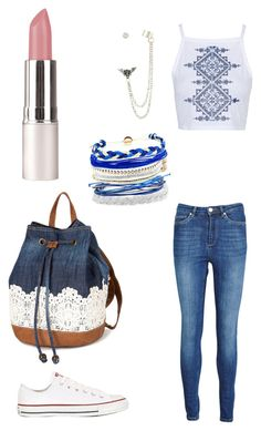 """""""Casual 60"""" by qandeelzehra ❤ liked on Polyvore featuring Topshop, Zoe Karssen, Converse and Domo Beads"""