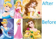 Disney Princesses' new looks. I like the old ones better