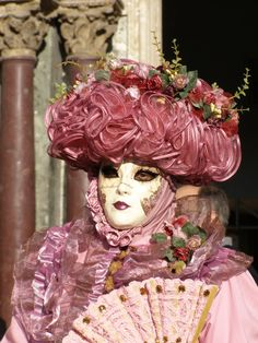 Part three of a lovely threesome Venice Carnival 2014 by Lesley McGibbon