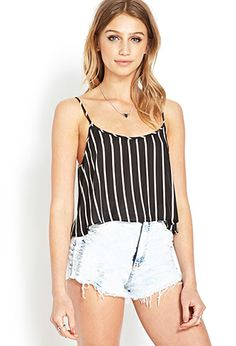 Striped Chiffon Cami | FOREVER21 - 2000061020