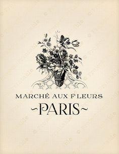 PARIS FLOWER MARKET French Instant download par ProjectPrintable