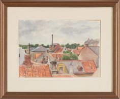 Bruno Hoppe Watercolor painting from Skepssholmen in Stockholm (Pharyah) In His Time, Stockholm, Watercolor Paintings, Vintage World Maps, Portrait, Artist, Water Colors, Headshot Photography, Artists