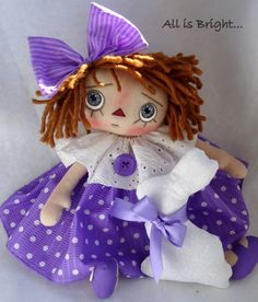 Spring Time Raggedy Doll  Kelli by Allisbright on Etsy, $40.00