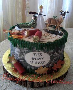 https://flic.kr/p/EN11Nr | Hunting Themed Grooms Cake