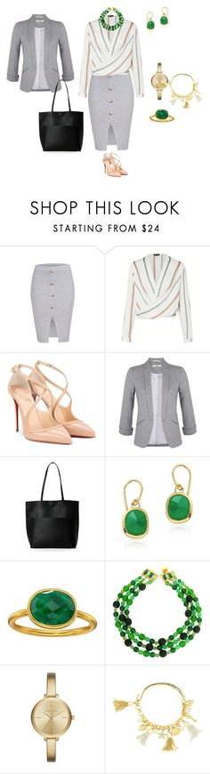 """Office"" by tsurumi-mai on Polyvore featuring ファッション, Christian Louboutin, Miss Selfridge, Street Level, Monica Vinader, Dee Berkley, DOMINIQUE AURIENTIS, Michael Kors と Lilly Pulitzer"