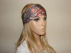 paisley turban headband  yoga headband  workout by OtiliaBoutique