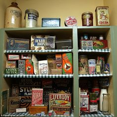At home in the past: Man whose house is a shrine to the 1940s Kitchen, Vintage Kitchen, Vera Lynn, Nostalgia, Lifebuoy, Retro Sweets, Vintage Interiors, Retro Home Decor, Sweet Memories